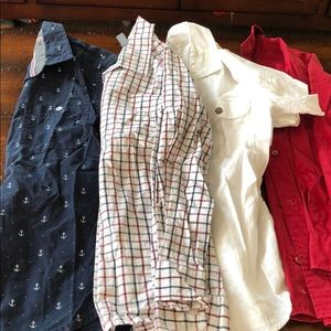 Boys button up shirt lot size 8